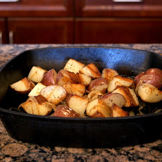 PAN-ROASTED POTATOES AND CARAMELIZED ONIONS