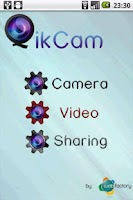 Screenshot of QikCam