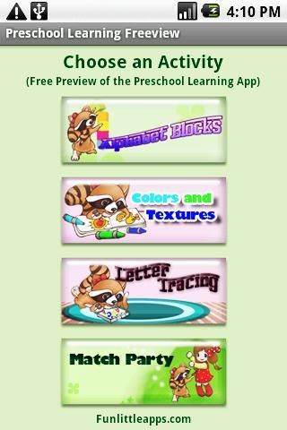 Preschool Learning Freeview