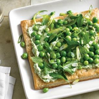 English Pea & Ricotta Tart