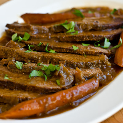 Onion-Braised Beef Brisket