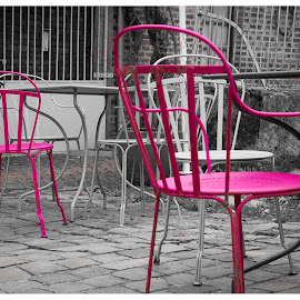 by Rousselle Ria - City,  Street & Park  Street Scenes ( Chair, Chairs, Sitting )