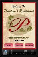 Screenshot of Piccolinos Restaurant