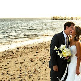 Love in Southport by Brooke Green - Wedding Bride & Groom ( natural light, wedding photography, wedding, outdoor, ocean, beach, bride and groom, beach wedding )