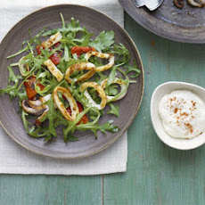 Chargrilled Calamari & Red Pepper Salad With Paprika Mayo