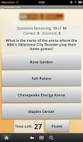 Screenshot of Basketball Trivia