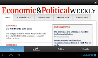 Screenshot of Economic and Political Weekly