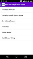 Screenshot of Resume Preparation Guide