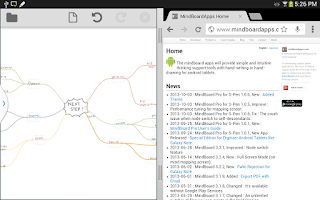 Screenshot of MindBoard Pro for S-Pen