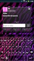 Screenshot of GO SMS Girly Zebra Theme