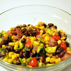 Aztec Black Bean Salad (Vegan, Low Fat)