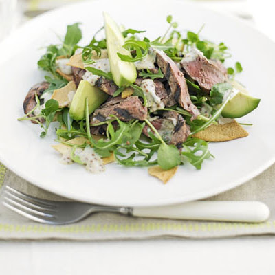 Peppered Steak Tortilla Salad