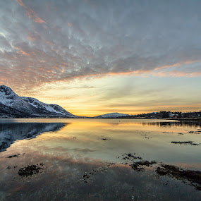 Sunset in Norway by Benny Høynes - Landscapes Sunsets & Sunrises ( canon, ice, sunset, sea, benny, norway )