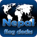 Nepal flag clocks icon