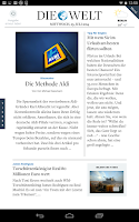 Screenshot of DIE WELT Tablet App