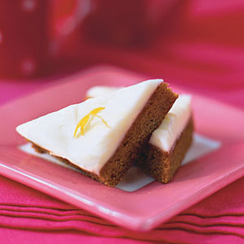 Gingerbread Squares with Lemon-Cream Cheese Frosting