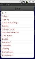 Screenshot of Austrian rail timetable