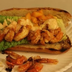 Blackened Grilled Shrimp Po' Boys
