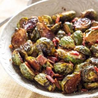 Balsamic Maple Brussels Sprouts