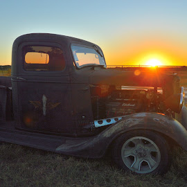 Good Morning by Kevin Dietze - Transportation Automobiles ( home built, street rod, rat rod, sunrise, hot rod )