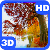 App Autumn Pond Willow View HD APK for Kindle