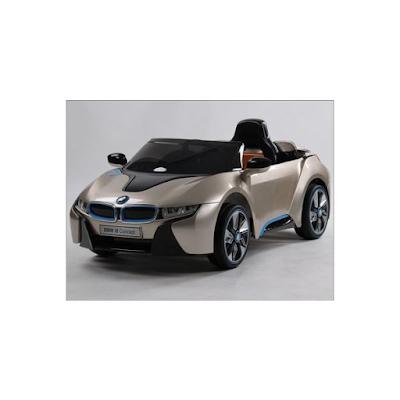 acheter bmw i8 champagne voiture lectrique pour enfant 12 volts 2 moteurs venette chez. Black Bedroom Furniture Sets. Home Design Ideas