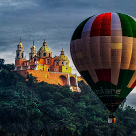 Balloon and Church by Cristobal Garciaferro Rubio - Transportation Other