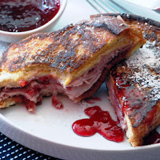Monte Cristo Sandwich (Fried Ham and Swiss with Red Currant Jelly)