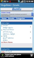 Screenshot of Telugu News