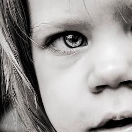 real eyes by Crazyand Milk - Babies & Children Child Portraits ( children eyes baby face black white,  )