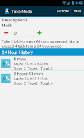 Screenshot of Med Helper Pro Pill Reminder