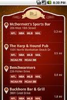 Screenshot of Sports Bar Finder