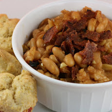 CrockPot Baked Beans with Apples and Jalapeño