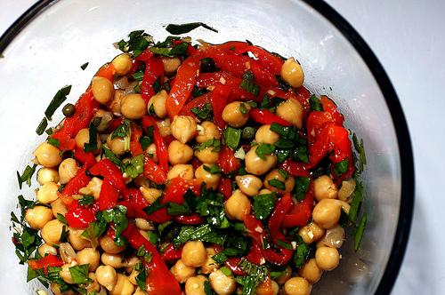 ... chickpea fajitas roasted chickpea snack roasted peppers chickpea salad