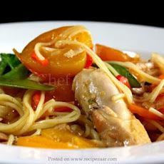 Apricot Noodle Chicken