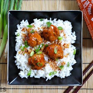 Turkey Sriracha Meatballs