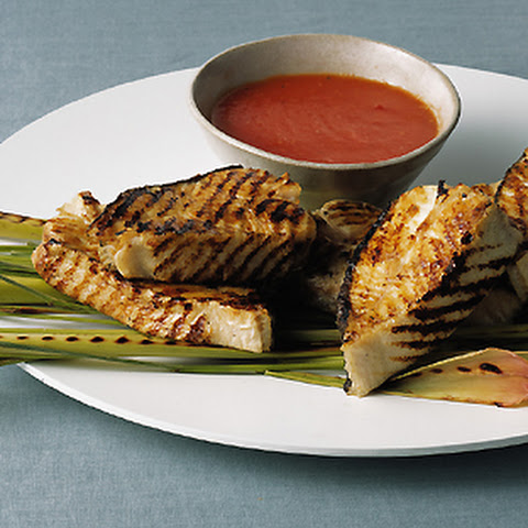 Grilled Halibut with Lemongrass Tomato Sauce