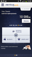 Screenshot of Meritum Bank Mobilny