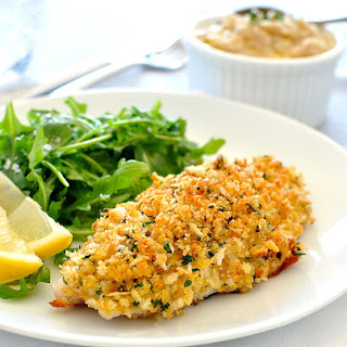 Healthy Parmesan Garlic Crumbed Fish