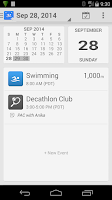 Screenshot of SwimWiz Fitness Log
