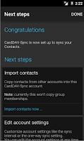 Screenshot of CardDAV-Sync