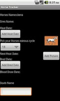 Screenshot of Horse Tracker