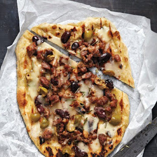Sausage and Olives Pizza
