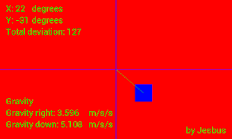 Screenshot of Inclination meter