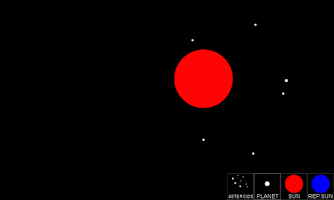 Screenshot of Gravity Simulator
