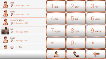 Screenshot of exDialer FrameBronzeWhite Skin