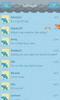 Screenshot of GO SMS Pro Rainy day Theme