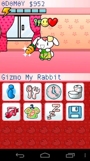 gizmo-cute-pet-bunny-free for android screenshot