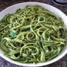 Pasta with Spinach Pesto Sauce