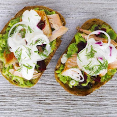 Hot-smoked Salmon & Avocado Open Sandwiches